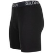 Men's Cotton Stretch Long Leg Boxer Brief (Black Soot/Slate Blue)