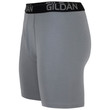 Men's Cotton Stretch Long Leg Boxer Brief (Grey Flannel/Black Soot)