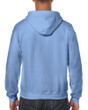 Men's Full Zip Hooded Sweatshirt (Carolina Blue)