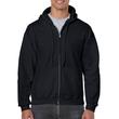 Men's Full Zip Hooded Sweatshirt (Black)