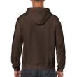 Men's Full Zip Hooded Sweatshirt (Dark Chocolate)