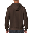 Men's Full Zip Hooded Sweatshirt (Dark Chocolate)