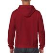 Men's Full Zip Hooded Sweatshirt (Cardinal Red)