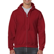 Men's Full Zip Hooded Sweatshirt (Cardinal Red)