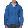 Men's Full Zip Hooded Sweatshirt (Royal)