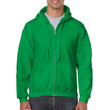 Men's Full Zip Hooded Sweatshirt (Irish Green)