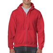 Men's Full Zip Hooded Sweatshirt (Red)