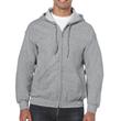 Men's Full Zip Hooded Sweatshirt (Sport Grey)