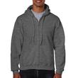 Men's Full Zip Hooded Sweatshirt (Dark Heather)
