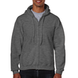 Men's Full Zip Hooded Sweatshirt (Dark Heather)