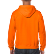 Men's Full Zip Hooded Sweatshirt (Safety Orange)