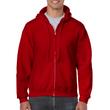 Men's Full Zip Hooded Sweatshirt (Antique Cherry Red)