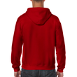 Men's Full Zip Hooded Sweatshirt (Antique Cherry Red)