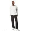 Men's Open Bottom Pocketed Sweatpant (Black)