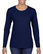 Women's Classic Long Sleeve T-Shirt (Navy)