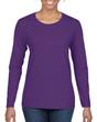 Women's Classic Long Sleeve T-Shirt (Purple)