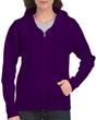 Women's Full Zip Hooded Sweatshirt (Purple)