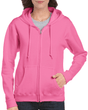 Women's Full Zip Hooded Sweatshirt (Azalea)