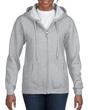 Women's Full Zip Hooded Sweatshirt (Sport Grey)