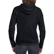 Women's Full Zip Hooded Sweatshirt (Black)