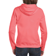 Women's Full Zip Hooded Sweatshirt (Coral Silk)