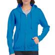 Women's Full Zip Hooded Sweatshirt (Sapphire)