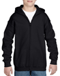 Youth Full Zip Hooded Sweatshirt (Black)