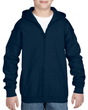 Youth Full Zip Hooded Sweatshirt (Navy)