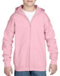 Youth Full Zip Hooded Sweatshirt (Light Pink)