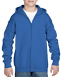 Youth Full Zip Hooded Sweatshirt (Royal)