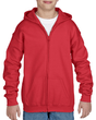Youth Full Zip Hooded Sweatshirt (Red)