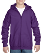 Youth Full Zip Hooded Sweatshirt (Purple)