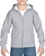 Youth Full Zip Hooded Sweatshirt (Sport Grey)