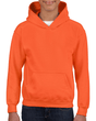 Youth Pullover Hooded Sweatshirt (Orange)