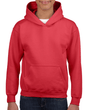 Youth Pullover Hooded Sweatshirt (Red)