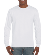 Men's Ultra Cotton Adult Long Sleeve T-Shirt (White)