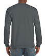 Men's Ultra Cotton Adult Long Sleeve T-Shirt (Charcoal)