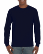 Men's Ultra Cotton Adult Long Sleeve T-Shirt (Navy)