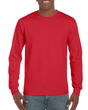 Men's Ultra Cotton Adult Long Sleeve T-Shirt (Red)