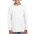 Kids' Ultra Cotton Youth Long Sleeve (White)