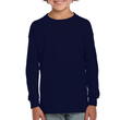 Kids' Ultra Cotton Youth Long Sleeve (Navy)