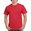 Men's Heavy Cotton Adult T-Shirt (Red)
