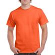 Men's Heavy Cotton Adult T-Shirt (Orange)