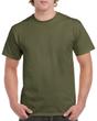 Men's Heavy Cotton Adult T-Shirt (Military Green)