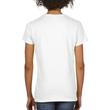 Women's Heavy Cotton V-Neck T-Shirt (White)