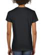 Women's Heavy Cotton V-Neck T-Shirt (Black)