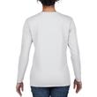 Women's Heavy Cotton Long Sleeve T-Shirt (White)