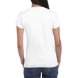 Women's Fitted Cotton T-Shirt (White)