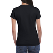 Women's Fitted Cotton T-Shirt (Black)