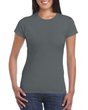 Women's Fitted Cotton T-Shirt (Charcoal)